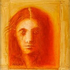Mujer Y Fundo Amarillo